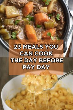 Easy make ahead meal ideas