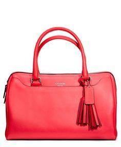 COACH LEGACY LEATHER HALEY SATCHEL - COACH - Handbags & Accessories - Macy's