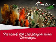 Love south Indian cuisine??  Come and relish a wide range of all your favourite flavours. #curryleaves #indiancuisine