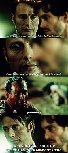I want them to re-release Hannibal but with Hannibal's inner monologue playing over.