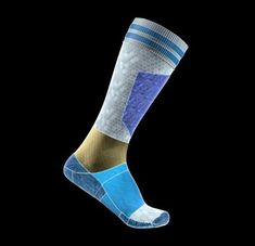 To showcase the high-tech features of PureFut a super cool new soccer sock Immortology created this modern schematic. Soccer Socks, Best Ads, Brand Building, Advertising Campaign, 3 D, Product Launch, Tech, Branding, Modern