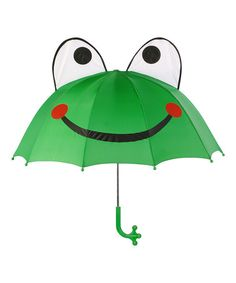 Another great find on #zulily! Green Frog Umbrella #zulilyfinds