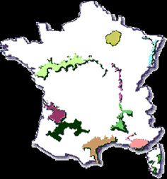 Map of the wine regions of france maps pinterest toulouse vins des regions de france guide des vins de france fandeluxe Gallery