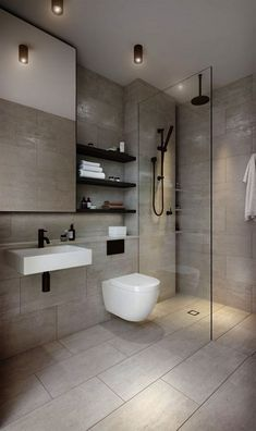 Dreaming of a designer or luxury bathroom? We've gathered together lots of gorgeous bathroom ideas for small or large budgets, including baths, showers, sinks and basins, plus bathroom decor ideas. Modern Master Bathroom, Modern Bathroom Decor, Minimalist Bathroom, Bathroom Layout, Contemporary Bathrooms, Bathroom Interior Design, Bathroom Ideas, Bathroom Vanities, Bathroom Designs