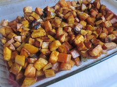 Roasted Sweet Potatoes (Dairy, Egg, Soy, & Nut Free) Recipe Side Dishes with sweet potatoes, non-dairy margarine, brown sugar, cinnamon