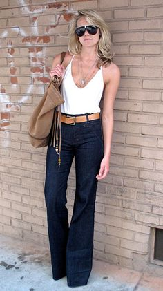 Tank and belted jeans