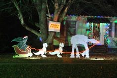My talented friend @Sara Eriksson Rodgers and her Merry Sithmas Star Wars Christmas Lawn Ornaments
