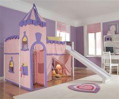 ne kids Princess Castle loft bed kids playhouse bed princesses low loft bunk bed childrens loft beds girls castle bed