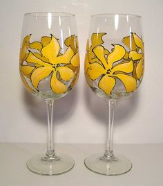 Daylilly White Wine Glass by ArtsyFartsyServeware on Etsy, $12.00