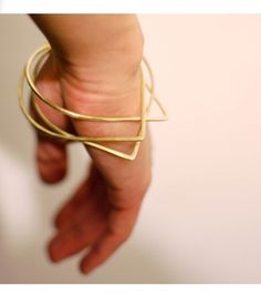 Bangles don't have to be circles to be beautiful  Catbird::shop by category::JEWELRY::Brass Teardrop Bangle