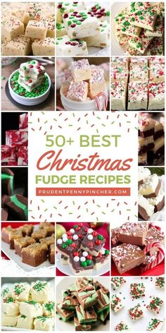 Are you looking for an easy, cheap and delicious Christmas dessert? Then, try these fudge recipes. They make an easy gift or festive treat for the holidays! Perfect Peppermint Fudge Sugar Cookie White Chocolate Fudge Easy Christmas Tree Fudge Red Velvet F Köstliche Desserts, Holiday Desserts, Holiday Baking, Holiday Treats, Holiday Recipes, Jewish Desserts, Christmas Baking Gifts, Holiday Candy, Italian Desserts