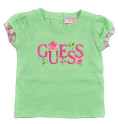 GUESS Infant Girls Lime Green Floral Print T-Shirt « MyStoreHome.com – Stay At Home and Shop