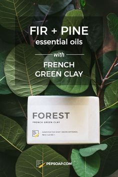 Formulated with mineral-rich French green clay to draw out impurities for delicately smooth skin.  A blend of fir and pine essential oils transform your shower into a walk in the woods.  #fir #pine #essentialoils #wholesale #retailer #soap #madeincanada