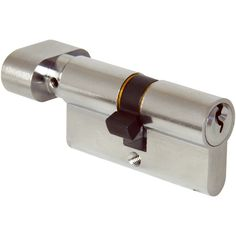 This style of key and turn of the cylinder allows you to lock the door with a key from one side and with a turn from the other side.  Ideal for locations that require controlled access from one direction and easy access from the other.