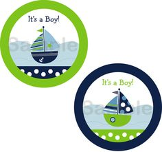 Sail Away Nautical Sailboat Printable Cupcake Toppers Print Your Own. $4.00, via Etsy.