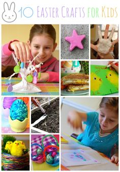 10 Easter Crafts for Kids -- using common household items for some great last-minute crafty Easter fun!