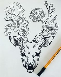 Fine line drawing deer work. Line Sketch, Line Drawing, Hippe Tattoos, Picture Logo, Beautiful Drawings, Lower Back Tattoos, Arm Band Tattoo, Picture Tattoos, Art Studios