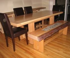 Furniture. Brown Kitchen Nook Table With Chrome Metal Legs On Grey ...