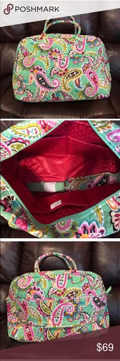 """NWT Vera Bradley tutti frutti weekender Dimensions 18 ½"""" w x 12 ½"""" h x 7 ½"""" d with 6 ½"""" strap drop and 48 ½"""" removable, adjustable strap Vera Bradley Bags Travel Bags"""