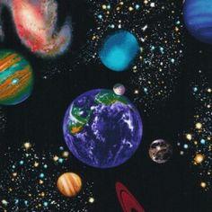 Tkanina Solar System OSTATNIE 3FQ!!!  Black Timeless Treasures
