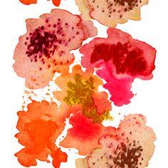 Design: AQUALOTIC (red/orange) Designer: Louise Videlyck (Sweden) Manufacturer: Kinnamark Composition: 100% Cotton Width: 140 cm Repeat: 135 cm