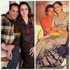 #muvyz051817 #BollywoodFlashback #couplegoals #Dharmendra #HemaMalini #NowAndThen #muvyz #instapic #instagood #instadaily