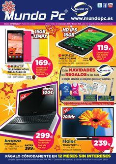 MundoPc Navidad 2014 - Folleto de Ofertas  ofertas de portátiles, smartphones, tablets, ordenadores de sobremesas, regalos, televisiones, y muchisimo más..