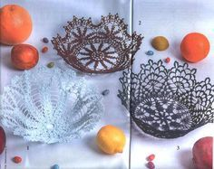 Find and save knitting and crochet schemas, simple recipes, and other ideas collected with love. Crochet Bowl, Easter Crochet, Crochet Crafts, Knit Crochet, Crochet Doily Patterns, Crochet Doilies, Easter Baskets, Handicraft, Decorative Bowls