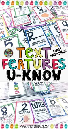 Practice text features with this fun and engaging U-Know game.  Students beg to take this game to lunch and even recess!  Perfect activity for grades 3-6 for learning the different types of nonfiction text features.