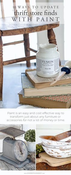 Paint is an easy and cost effective way to transform just about any furniture or accessories you'll find at the thrift store, antique store, or consignment shop.  See 10 ways paint can update what you buy at www.andersonandgrant.com