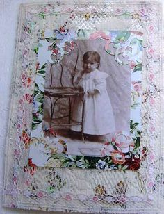 altered vintage print with little girl