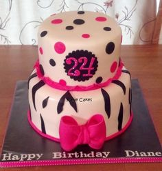 Hot Pink Zebra Cake - anyone love hot pink and zebra? :)