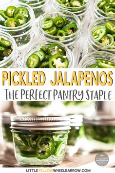 We Show You How To Pickle Jalapeno Peppers To Preserve Them For Storage. These Peppers Are The Perfect Addition To Anything That Needs A Spicy Kick. Impeccable To Add To Burgers, Nachos, Grilled Cheese, Eggs - Seriously They Are So Good On Everything Easy Canning Jalapeno Peppers, Canned Jalapenos, Pickling Jalapenos, Stuffed Jalapeno Peppers, Best Pickled Jalapenos Recipe, Freezing Jalapenos, Pickeled Jalapenos, How To Pickle Peppers, Kitchen