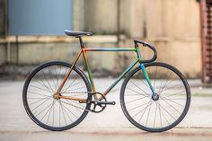fbb794d8582 Nicole's track bike by Bishop Bikes, built up using Full Columbus Gilco  tubeset, 3Rensho
