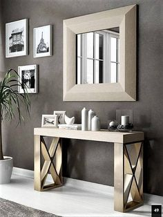 New House Entrance Ideas Entryway Foyers Interior Design Ideas Decor, Foyer Design, Interior, Foyer Decorating, Living Room Decor, Home Decor, Modern Console Tables, Interior Design, Contemporary Console Table