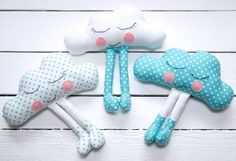 27+ Adorable Free Sewing Patterns for Stuffies, Plushies, Stuffed Animals and Other Felt and Fabric Toys- Cloud Softy Sewing Pattern from Miss Daisy Patterns