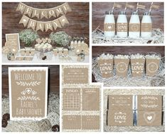 Save OVER 50% with the Baby Shower Mega Set!  This adorable printable Rustic Neutral Baby Shower MEGA SET has Everything you need to throw a perfect baby shower that will be sure to impress your guests.  ►All files will be emailed to your ETSY email address within 24-48 hours. No items will be shipped in the mail.  ►If chosen personalization During checkout in the message box notes to seller Please include: 1. Honorees name  Package Includes  • Sweet Baby banner ( Each flag measure 5 x 7) •…
