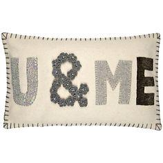 £35 Buy John Lewis U & Me Cushion, Cream online at JohnLewis.com - John Lewis