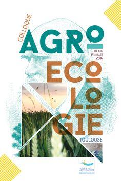 AFFICHE - VISUEL Colloque Agro-Écologie Adour-Garonne Création Laurence Fresse