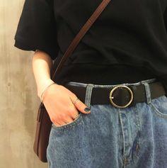 dee3cbc97 Hoop Buckle Belt Tumblr Fashion