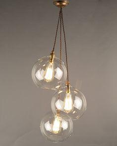 Cluster Pendant Lights, Chandelier Lighting, Hereford Cluster Chandelier - Staggered