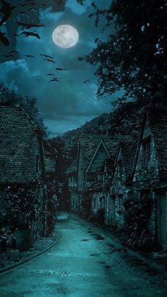Dark night.