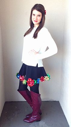Tacky Christmas Skirt by Bunny Baubles Blog
