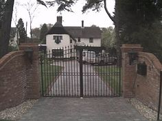 Image result for curved wall and garden gates