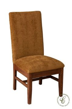 Our Amish Handcrafted Georgetown Dining Chair is a Traditional, fully upholstered chair on a solid frame in the hardwood of your choice.