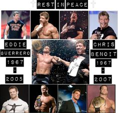 Chris Benoit and Eddie Guerrero. Wrestling Memes, Wrestling Divas, Chris Benoit, Karl Malone, Eddie Guerrero, Stone Cold Steve, Jeff Hardy, Steve Austin, Now And Forever