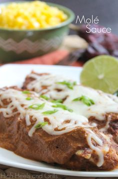 Yummy Molé Sauce! Delicious on enchiladas. #recipe http://www.highheelsandgrills.com/2013/09/mole-sauce.html
