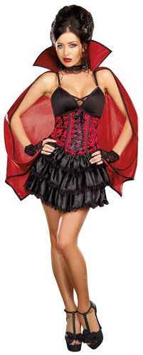 Dead Sexy Vampire Costume - Love the frilled skirt