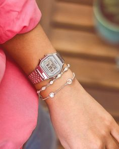 Vintage Watches Women, Retro Watches, Apple Watch Bands, Simple Outfits, Casio Watch, Michael Kors Watch, Girly Things, Women Jewelry, Jewels