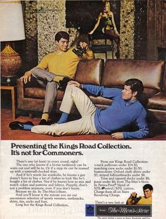 1960s Menswear Ad With Supercharged Homoerotic Subtext. Completely ignore that Playboy bunny in the background. She is utterly inconsequential here.